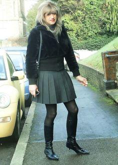 Faux Leather Pleated Skirt Fauxleatherskirt Twas
