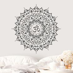 Om Mandala Stencil Perfect Stencil for Yoga or Spiritual | Etsy