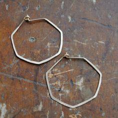 geometric hammered hoops