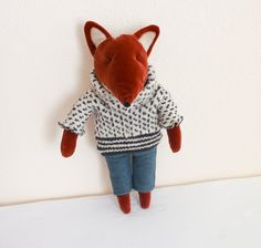 Mr. Fox. Fox. Stuffed animal. Stuffed toy. Toy for kids. by Apseed