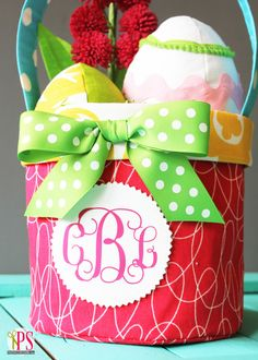 Fabric Easter Basket Pattern and Tutorial | Positively Splendid {Crafts, Sewing, Recipes and Home Decor}