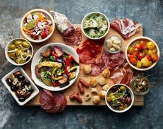 Appys: MONICA EISENMAN from systrarna eisenman's minglemat  salumi and vegetable platter ideas
