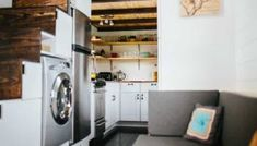 Nomad's Nest 5th Wheel Tiny Home on Wheels by Wind River Tiny Homes Tiny House Talk, Tiny House Living, Tiny House Plans, Tiny House On Wheels, Tiny House Design, Small Living, Apartment Therapy, Barn Apartment, Layout Design