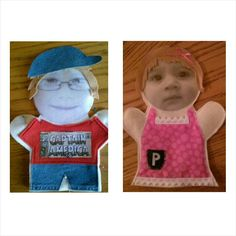 Custom puppets. Joey and Penny
