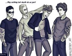 """Fall Out Boy - digital art drawing """"may nothing but death do us part"""" by Sofia M.G."""