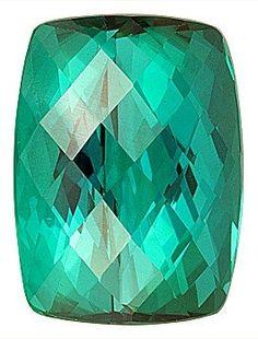Fantastic Blue Green Namibian Cross Checkerboard Cut Tourmaline Gem, Antique Cushion Cut, 11.65 carats
