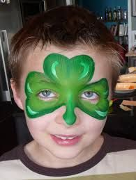 st patrick's day face paint - Google Search