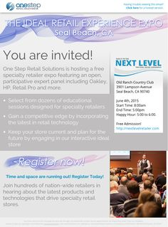 You're invited!! Come here from top industry experts and learn how to make your store succeed!
