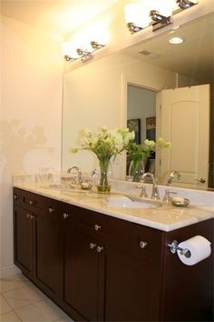 full size mirror no frame toilet paper holder attached to vanity
