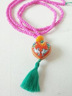 Bekijk dit items in mijn Etsy shop https://www.etsy.com/nl/listing/559709431/bohemian-necklace-with-handpainted-glass