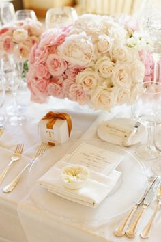 peonies and roses for your wedding day centerpieces...so romantic!