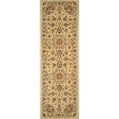 Handmade Rectangular Persian Tabriz Runner Area Rug in Green with Ivory Accents, 2x10 area rugs