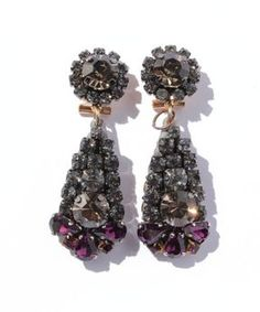 Purple stone earring / ShopStyle(ショップスタイル): Tomorrowland Accessories rada ボリュームビジューピアス  - shopstyle.co.jp