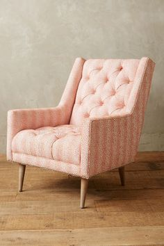 Love the fabric close up. Linen Booker Armchair, Wilcox - anthropologie.com