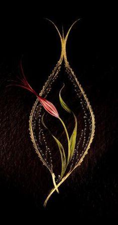 Zülâl Çay Crewel Embroidery, Hand Embroidery Designs, Motifs Islamiques, Ebru Art, Turkish Art, Arabic Art, Marble Art, Islamic Art Calligraphy, Gold Work