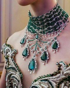 Jewelry Necklace Monday requires something fabulous and this is most certainly it! A stunning emerald necklace by Emerald Necklace, Emerald Jewelry, Diamond Jewelry, Body Jewelry, Fine Jewelry, Jewelery, Jewelry Necklaces, Coin Pendant Necklace, Collar Necklace