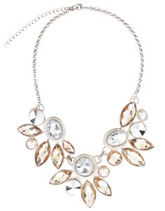 Evelyn Floral Necklace | Silver | Monsoon