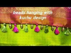 Latest kuchu with beads hanging Saree Kuchu Designs, Blouse Designs, Hindu Statues, Saree Tassels, Hanging Beads, Silk Sarees, Fashion Dresses, Sari, Make It Yourself