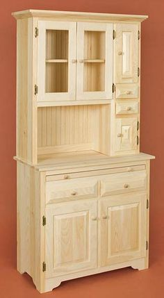 open bottom hutches | Has One Shelf inside bottom Cabinet