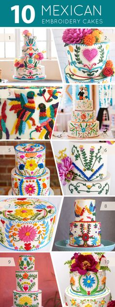 10 Mexican Embroidery Cakes | on TheCakeBlog.com