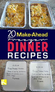 a busy mom, these easy freezer meals are a lifesaver. These make-ahead recipes have made healthy dinners a breeze. a busy mom, these easy freezer meals are a lifesaver. These make-ahead recipes have made healthy dinners a breeze. Make Ahead Freezer Meals, Freezer Cooking, Cooking Tips, Cooking Recipes, Freezer Dinner, Chicken Freezer Meals, Plan Ahead Meals, Make Ahead Casseroles, Budget Freezer Meals