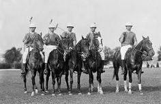 "POLO 1912 17""x11"" print, Beautiful Horses, five polo riders, Very nice photo"