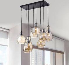 farmhouse glass pendant lights
