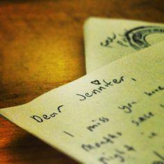hand-written letters <3<3<3