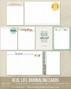 Real Life Journaling Cards (Digital)