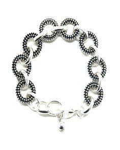 Textured Circle Bracelet
