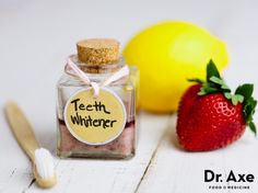 Homemade Teeth Whitener. I will try but will use a drop of lime or lemon juice instead of essential oil.
