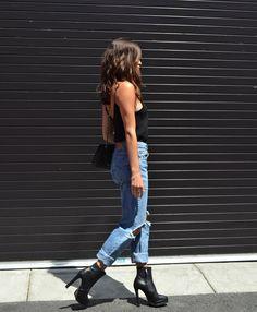 Like the jeans nd heels