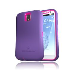 ZeroLemon ZeroShock Pink/Purple Dual Layer Rugged Case + Screen Protector + Holster/Kickstand for Galaxy Note 3