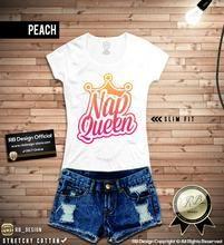 Nap Queen Women's T-shirt Trendy Queens Crown Wording Top WD147