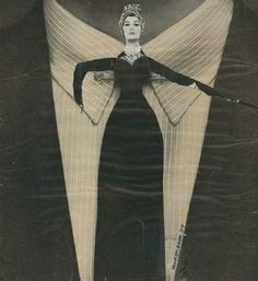 Stan VanDerBeek ~ From A La Mode (1958), Photomontage on Board