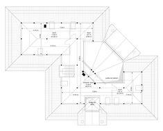 Willa Parkowa 6 on Behance Modern Bungalow Exterior, Modern Bungalow House, House Plans Mansion, My House Plans, House Layout Plans, House Layouts, Dream Home Design, Modern House Design, Home Building Design
