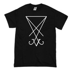 Sigil of Lucifer - Satanic T Shirt Satan, My Etsy Shop, Trending Outfits, Wicca, Unique Jewelry, Mens Tops, T Shirt, Shopping, Fashion