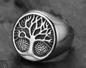 Etsy - Shopping basket Mens Rings Etsy, Tree Of Life Ring, Stainless Steel Rings, Silver Rounds, Signet Ring, Vintage Rings, Gifts For Dad, Fashion Accessories, Rings For Men