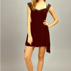 HP! FREE PEOPLE MissMini Black Dress SOLDOUT in XS Brand new Free People black dress! Sweetheart style front with cap sleeve and multi-strap detail (see last photo). Adorable with ankle boots for the perfect look. Lightweight and figure flattering! Ask for 15% off discount  Free People Dresses