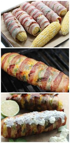 Mouthwatering Bacon-Wrapped Corn on the Cob.