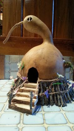 Fairy House Whimsical Gourd Fairy House by creativedesignsbyocd