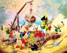 Return to Morgan's Island - Reproduced after Carl Barks original by the Italian artist Gil