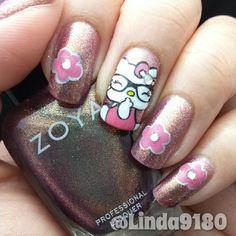 hello kitty by linda9180 #nail #nails #nailart