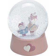La boule à neige étoile rappelle la douceur de l'enfance, Objet décoratif d'intérieur. Amusant à tout âge,idée de cadeau, on la secoue et la neige tombe!