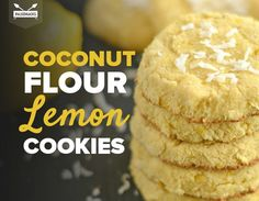Coconut Flour Lemon Cookies - use aluminum free baking powder and cage-free organic eggs. (As always choose organic content and fresh content as much as possible for the healthiest recipe. Also wash all fruits and vegetables before cutting or adding to Coconut Flour Cookies, Coconut Flour Recipes, No Flour Cookies, Paleo Cookies, Lemon Cookies, Gluten Free Cookies, Coconut Milk, Lemon Coconut, Almond Flour