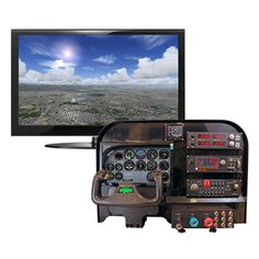 Flight Training Cockpit Panel - the ultimate flight simulator setup. Flight Simulator Cockpit, Microsoft Flight Simulator, Racing Simulator, Star Citizen, Aircraft Instruments, Electric Aircraft, Private Pilot, Computer Class, Best Flights