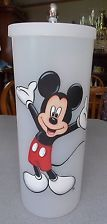HAND PAINTED MICKEY MOUSE TOILET PAPER HOLDER/CANISTER
