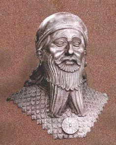 Assyrian Staues in Museums: Sargon I.,assyrian king 2340-2285 BCE