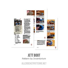 Jett boot crochet pattern - Allcrochetpatterns.net