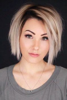 42 Really Cute Short Hair Cuts And Hairstyles Thin Hair Cuts cut thin hair look thicker Bob Hairstyles For Fine Hair, Short Hairstyles For Women, Cool Hairstyles, Layered Hairstyles, Trending Hairstyles, Choppy Hairstyles, Braid Hairstyles, Short Blonde Hair Cuts For Women, Natural Hairstyles